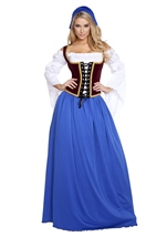 Beautiful Bar Maiden Woman Costume