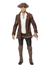 Brocade Jacket Pirate Men Costume -
