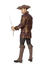 Adult Brocade Jacket Pirate Men Costume -