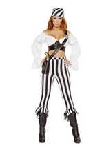 Beautiful Pirate Maid Woman Costume