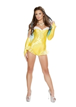 Mermaid Romper Women Costume Yellow