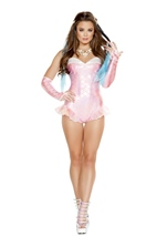 Mermaid Romper Women Costume Pink