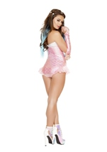 Adult Mermaid Romper Women Costume Pink