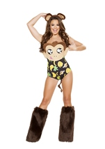 Banana Loving Monkey Woman Costume