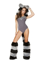 Furry Raccoon Woman Costume