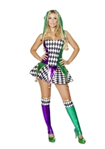 Mischievous Jester Woman Costume