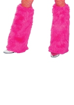 Dleuxe Hot Pink Furry Leg Warmers
