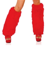 Deluxe Furry Red Leg Warmers