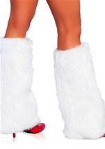 Deluxe Furry White Leg Warmers