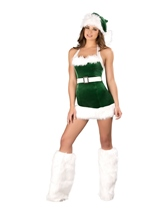 Santas Elf Women Sexy Christmas Halloween Costume
