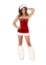 Sexy Miss Kringle Women Christmas Halloween Costume