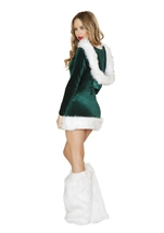 Adult Elf Beauty Women Sexy Christmas Costume