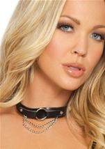 Deliciously Devilish O Ring And Chain Choker