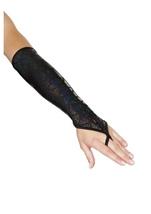 Mermaid Fingerless Gloves Black