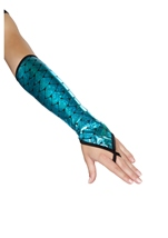 Mermaid Fingerless Gloves Blue