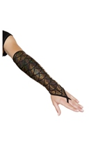 Mermaid Fingerless Gloves Gold