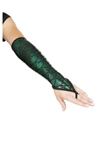 Mermaid Fingerless Gloves Hunter Green