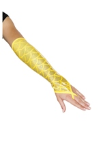 Mermaid Fingerless Gloves Yellow