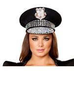 Deluxe Studded Police Women Hat