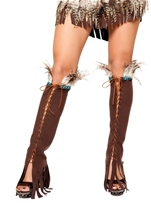 Lace up Suede Leg Warmers