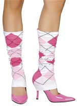 Sorority Sue Argyle Leg Warmer