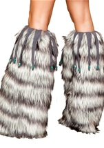 Deluxe Leg Warmers with Beaded Fringe