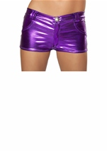 Purple Metallic Short