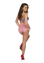 Adult Americans Polka Dot High Waisted Short