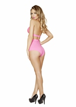 Adult Pink Banded Short With Scrunch Front Detail