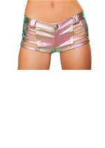 Denim Strapped Shorts Light Multi
