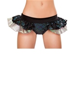 Mermaid Shorts with Attached Iridescent Skirt Black Woman Costume