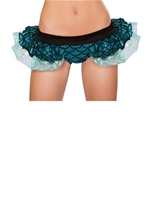 Mermaid Shorts with Attached Iridescent Skirt Blue Woman Halloween Costume