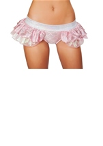 Adult Mermaid Pink Shorts with Attached Skirt