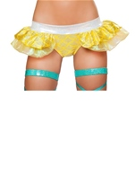 Mermaid Shorts with Attached Iridescent Skirt Yellow Woman Costume
