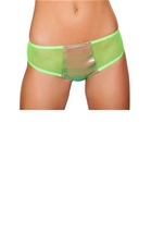 Two Tone Denim Shorts Light Multi Lime