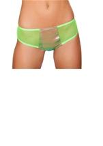 Two Tone Denim Shorts Light Multi Lime