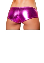 Hot Pink Metallic Dance Wear Low Rise Short