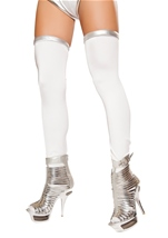 White And Silver Space Leggings