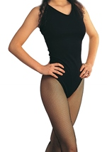 Black Nylon Sleeveless Leotard