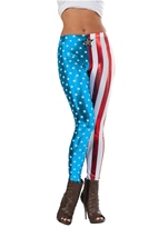 Captain American Woman Metallic Leggings