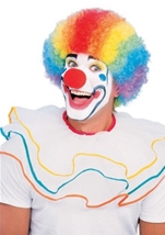Deluxe Multicolor Clown Wig