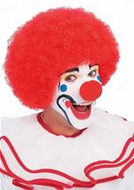 Clown Afro Wig Red