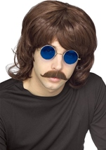 Brown 70s Shag Men Wig