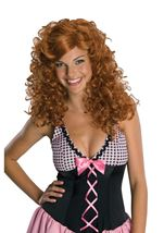 Rockabilly Red Women Wig