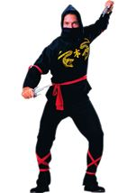 Black Ninja Men Costume