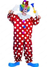 Dotted Clown Men Costume