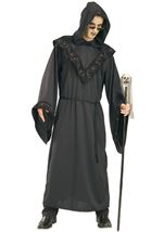 Hooded Black Spider Robe Men Costume