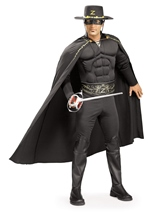 Deluxe Zorro Men Muscle Chest Costume
