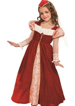 Girls Renaissance Jewel Princess Costume