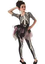 Skelee Ballerina Girls Glow In The Dark Costume